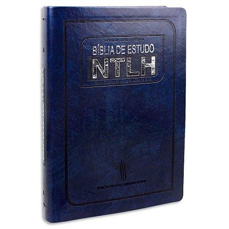 Bíblia de Estudo NTLH Azul Grande