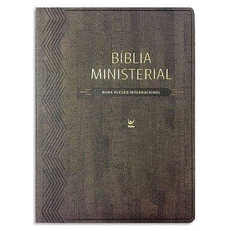 Bíblia Ministerial NVI Marrom com Índice