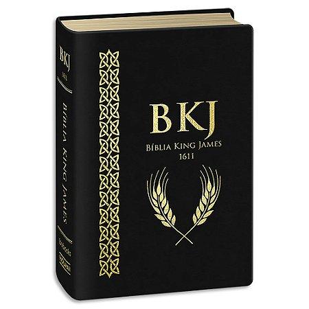 Bíblia King James 1611 Luxo Letra Ultra Gigante Preta