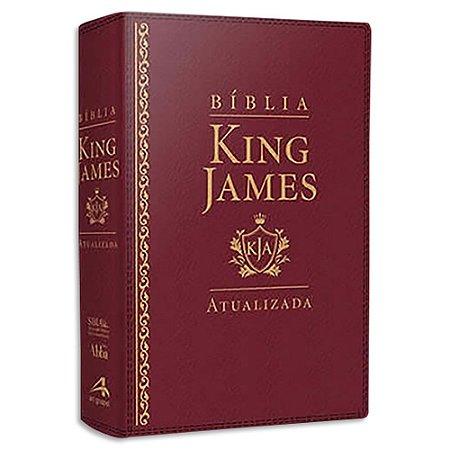 Bíblia King James Atualizada Letra Grande Vinho
