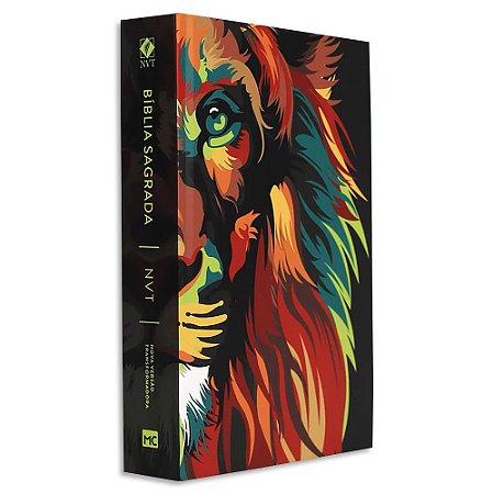 Bíblia NVT Letra Grande Leão Colorido