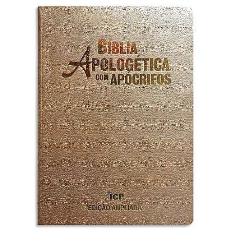 Bíblia Apologética com Apócrifos Champanhe