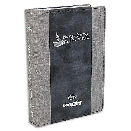 Bíblia de Estudo do Discípulo Revista e Atualizada Cinza