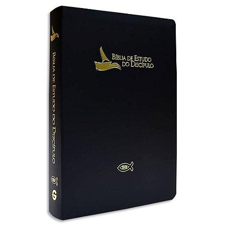 Bíblia de Estudo do Discípulo Revista e Atualizada Preta