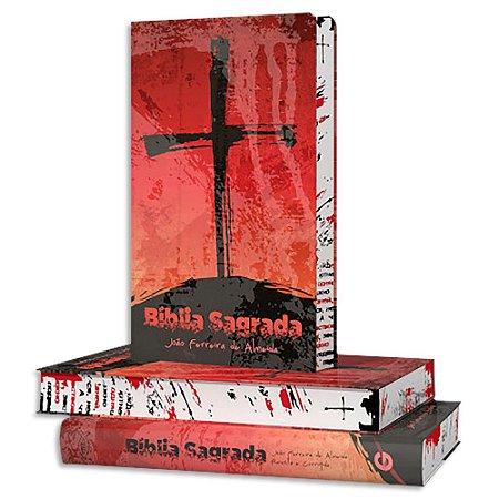 Bíblia João Ferreira de Almeida RC capa Cruz