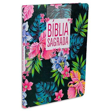 Bíblia Feminina NAA Letra Grande Flor
