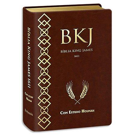 Bíblia King James com Estudo Holman Marrom