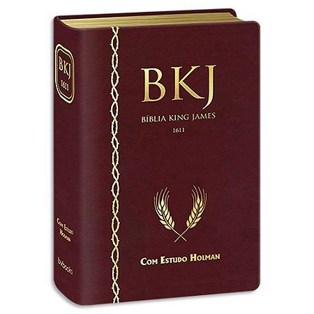Bíblia King James com Estudo Holman Vinho
