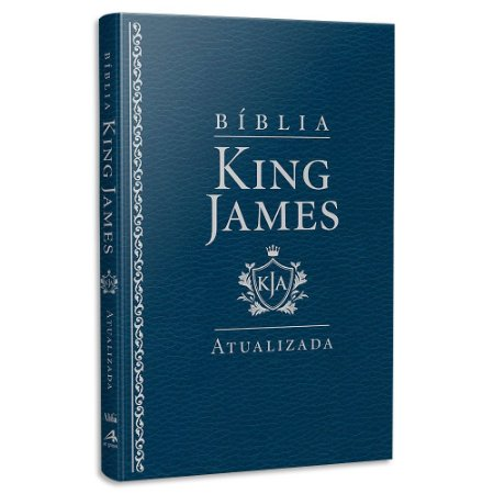 Bíblia King James Atualizada Slim Azul