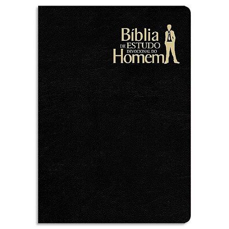 Bíblia de Estudo Devocional do Homem Preta