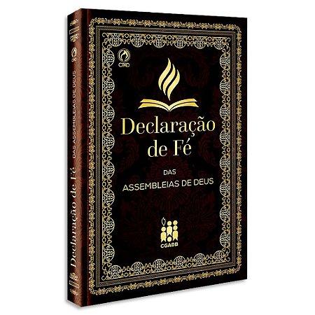 Declaração de Fé das Assembléias de Deus Capa Brochura