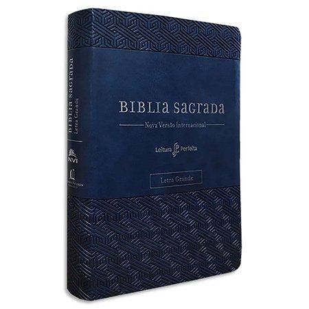 Bíblia NVI Leitura Perfeita Letra Grande Azul e espaço para anotações