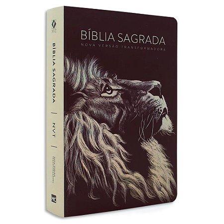 Bíblia NVT Letra Grande Leão Head Soft Touch