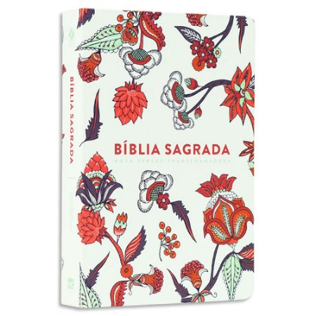 Bíblia NVT Letra Grande Flores Indianas Branca Soft Touch