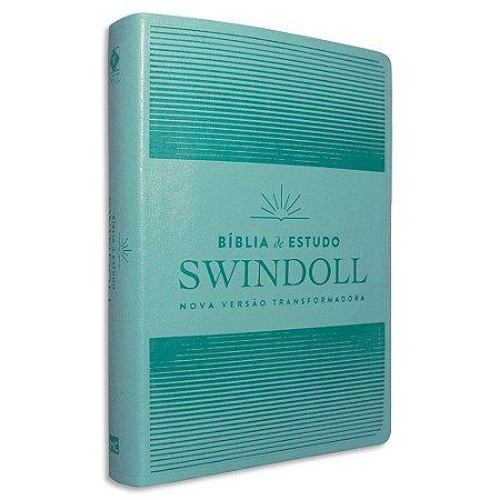 Bíblia de Estudo Swindoll NVT Acqua