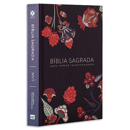Bíblia NVT Flores Indianas Azul