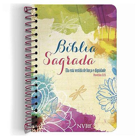 Bíblia NVI Anote Ela Está Vestida de Força e Dignidade