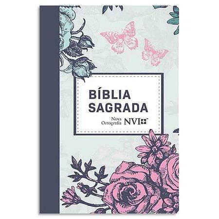 Bíblia NVI Nova Ortografia Lilás Floral