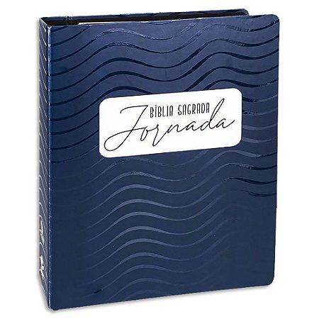 Bíblia Sagrada Jornada Azul Escuro Luxo