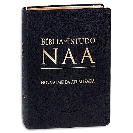 Bíblia de Estudo NAA Couro Legítimo