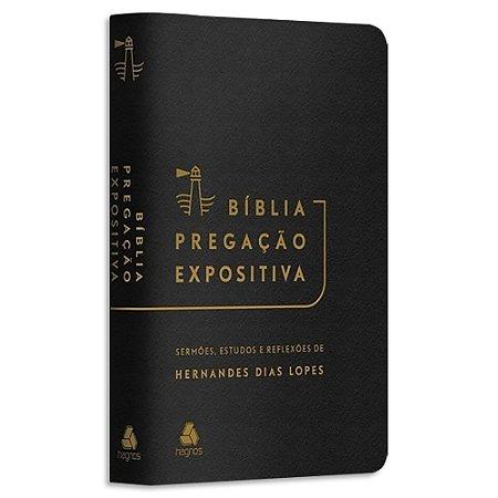 Bíblia Pregação Expositiva Hernandes Dias Lopes Preta