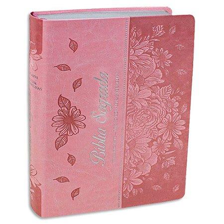 Bíblia Feminina Letra Gigante Rosa Claro RC