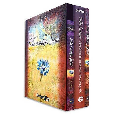 Coleção Fala Comigo Jesus: 3 Livros: Bíblia, Devocional e Diário