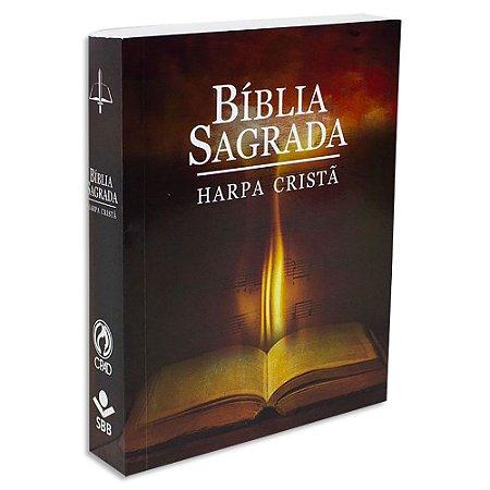 Bíblia Sagrada com Harpa Letra Grande Fogo