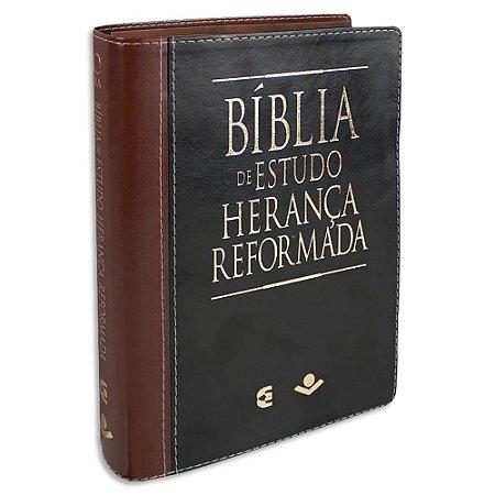 Bíblia de Estudo Herança Reformada Preta e Marrom