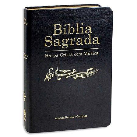 Bíblia Sagrada com Harpa e com Música Preta