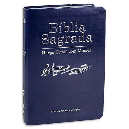 Bíblia Sagrada com Harpa e com Música Azul