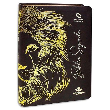 Bíblia Sagrada Leão Marrom