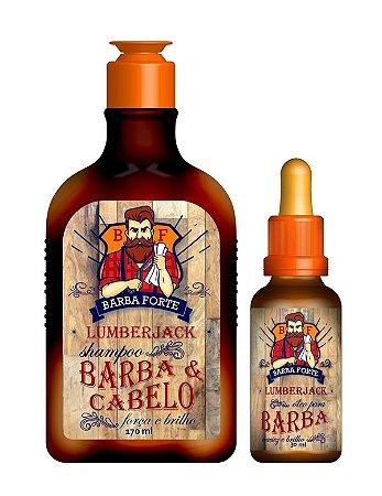 Combo Lumberjack Shampoo e Óleo Barba Forte (2 Produtos)