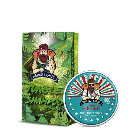Combo Shampoo em Barra Jungle & Pomada Hipster (2 produtos)