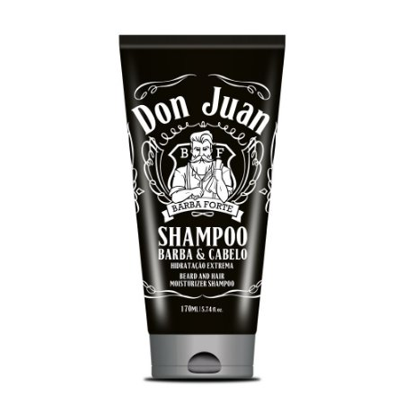 Shampoo Barba e Cabelo Don Juan Barba Forte 170ml