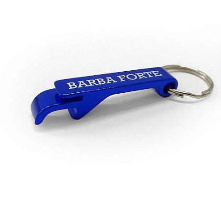 Chaveiro Abridor Garrafas azul Barba Forte.