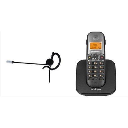 c419ebe0f Telefone S fio Viva Voz Conex Headset Intelbras Ts 5120 com Fone HC ...