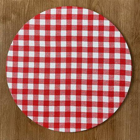Sousplat Gorgurinho xadrez vermelho branco