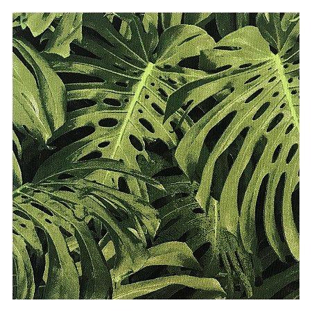 Quadro para parede decorativo Costela De Adão verde
