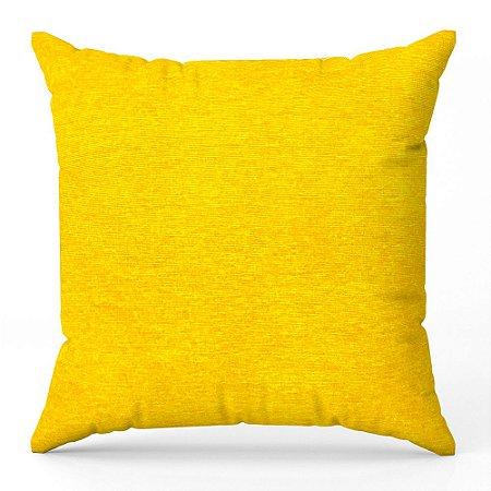 Capa de almofada Jacquard liso amarelo