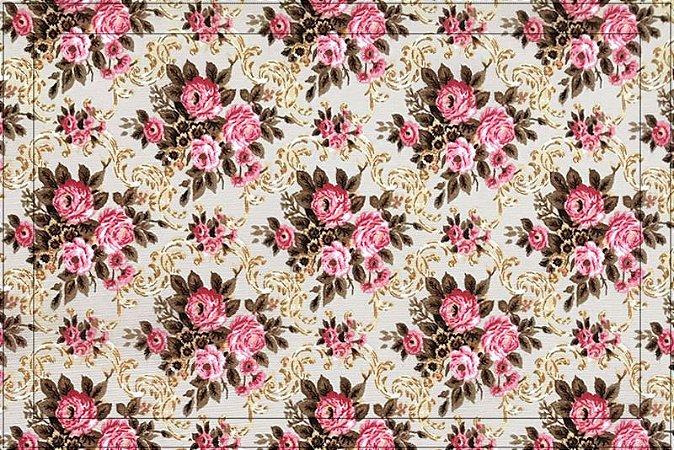 Jogo americano Gorgurinho floral bege rosa