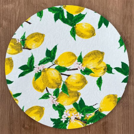 Sousplat Jacqurad limão siciliano branco amarelo