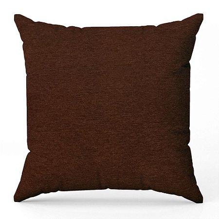 Capa de almofada Jacquard liso marrom escuro