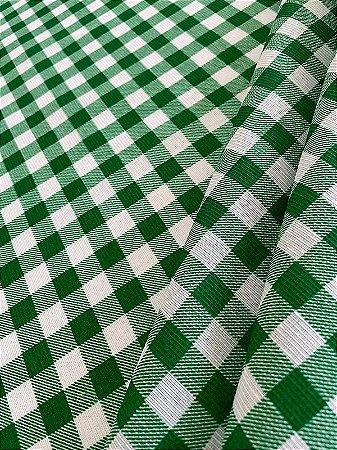 Tecido Gorgurinho Xadrez Verde Branco