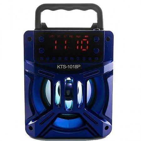 Caixa de Som Portátil com Bluetooth KTS-1018P