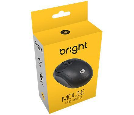 Mouse Óptico USB Bright Preto