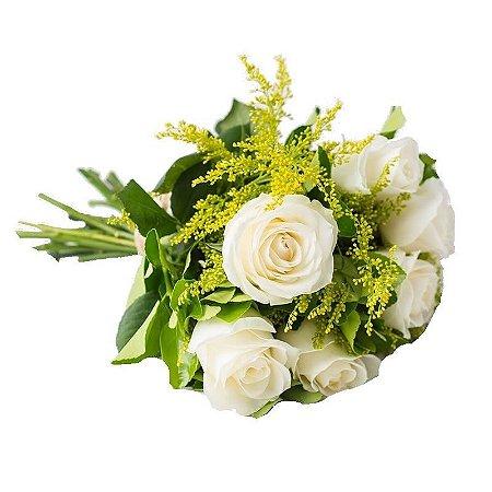 Buquê Rosas Importadas Brancas ( 6 )
