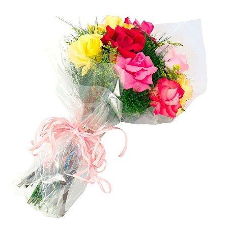 Buquê Rosas Importadas Coloridas ( 6 )