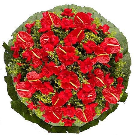 Coroa de Flores para Velório - Amor Eterno