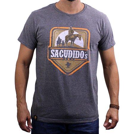 Camiseta Sacudido's - Muladeiros - Mescla Escuro